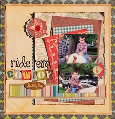 Still Thinking...: Ride 'Em Cowboy   super cute western LO from Madeline.