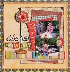 Still Thinking...: Ride 'Em Cowboy   super cute western LO from Madeline.