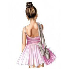 Ballerina art print - illustration girls - gift for her - girls birthday - ballet art - fashion artwork - girls room - girly art Ballerina Art, Ballet Art, Dancing Drawings, Bff Drawings, Easy Drawings, Ballet Painting, Fashion Artwork, She Girl, Illustration Girl