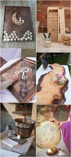 Creative wedding guest book ideas #weddingguestbook #weddingideas #uniquewedding