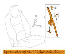 a chevrolet gm oem 10 11 camaro front seat belt retractor left 19256870