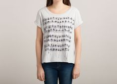 """One of the best ballet t-shirts ever! Look at the tiny dancers as music. Lovely illustration.  """"Dance With Rhythm"""" - Threadless.com"""