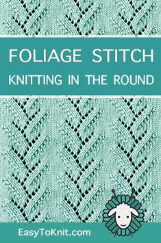 lace knitting Kniting in the round - Knitting Stitch Patterns Knitting Machine Patterns, Knitting Stiches, Knitting Blogs, Knitting Charts, Loom Knitting, Knitting Socks, Knitting Projects, Knit Stitches, Vogue Knitting