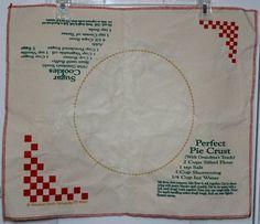 Vintage Cotton Canvas Grandma's Touch Pie by VictorianWardrobe