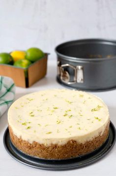 """A tart, creamy key lime pie with a graham cracker crust """"baked"""" in the pressure cooker, then served topped with some lightly sweetened whipped cream."""