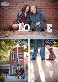 Marietta Square Engagement Photos | Jen + Jason » Liz Love Laugh - Super cute LOVE photo idea