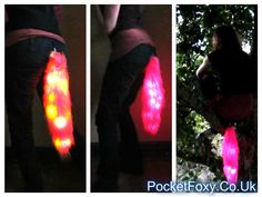 Glowing Neon Tails LED Light Up Battery Powered Fox Wolf Cat Night Nocturnal Animal Cosplay Anime Furry Fluffy Partial Fur Suit Festival Dog by PocketFoxy on Etsy https://www.etsy.com/listing/242374926/glowing-neon-tails-led-light-up-battery