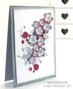 Stampin' Up! UK Demonstrator Pootles - I Love Lace in Cherry Cobbler and Elegant Eggplant...
