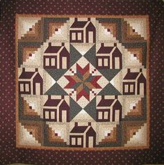 Schoolhouse and Log Cabin Quilt combines two of my beloved quilt patterns for…