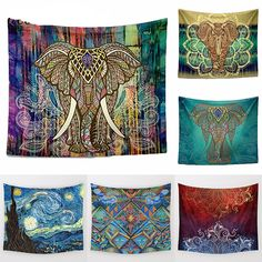 13998a394 Elephant Wall Tapestry   Price   19.95   FREE Shipping     yoga Tapetes