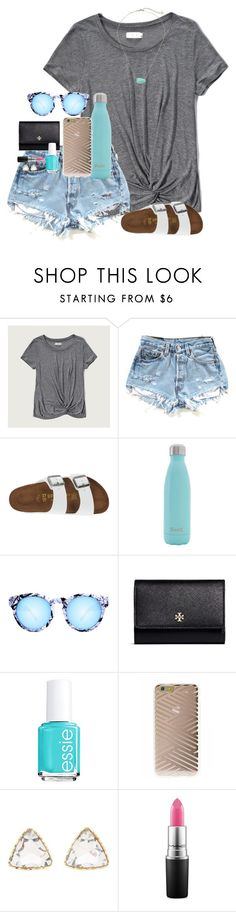"""hope u had a s'well day ;) - tag in d"" by graciegerhart7 ❤ liked on Polyvore featuring Abercrombie & Fitch, Birkenstock, S'well, Quay, Tory Burch, Essie, Sonix, Charlotte Russe, MAC Cosmetics and Kendra Scott"