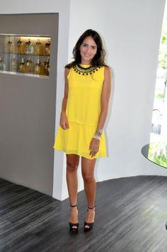 vestido Amarillo para coctel