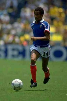 Jean Tigana of France at the 1986 World Cup Finals.