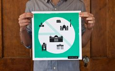 Europa Touring / Berlin. Silkscreened in two colors, 12x12. We Are Things $39.00