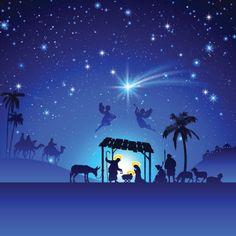 nativity scene silhouette - Google Search