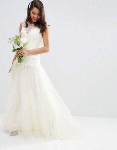 119f34ab9b13a ASOS BRIDAL Premium Lace Bodice Mesh Skirt Maxi Dress at asos.com. Vestito  Da Matrimonio In OrganzaPizzo Da SposaAbiti ...
