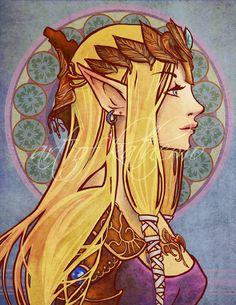 Anime Nouveau - Zelda by kathemo on DeviantArt