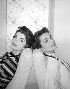 The future Jacqueline Kennedy and Lee Radziwill in the early 1950s when they were simply the Bouvier sisters