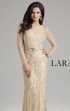 c4b5321f5ab17 Lara Designs 32953 Dress - MissesDressy.com. Sheer FabricsIllusion Prom  DressesFloorDressingGownSleeveJenny PackhamFashionGold Beads