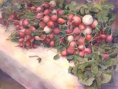 Spring Harvest, Watercolor Original, Louise O'Donnell