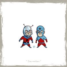 Little friends: Ant Man and Atom by Rawlsy.