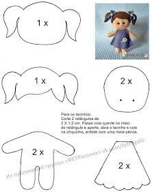 e Moldes de Artesanato Molde boneca menina de feltro - felt doll patternMolde boneca menina de feltro - felt doll pattern Felt Doll Patterns, Stuffed Toys Patterns, Felt Baby, Sewing Dolls, Soft Dolls, Doll Crafts, Bead Crafts, Paper Crafts, Felt Toys