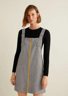 1b1312793 Pockets pinafore dress - f foShort Woman