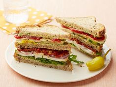 Veggie Lover's Club Sandwich recipe from Food Network Kitchen via Food Network