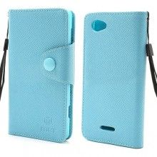 Capa Xperia L - Tipo Carteira Bolso Azul R$37,60