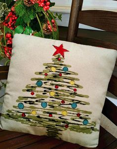Christmas+Tree+Pillows+Accent+Pillows+by+SippingIcedTea+on+Etsy