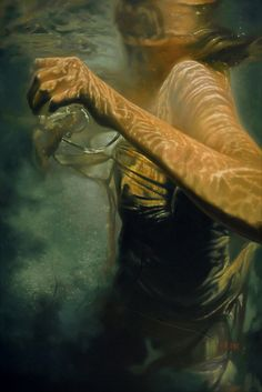 """Hesitation 24"""" X 36"""" oil on canvas Available for information ... http://www.mheine.com/hesitation.html The story point ... The path of life is simply one moment following another. We control our destiny with what we choose for the next moment. The problem is, the direction we choose, seldom turns out as we planned. This seemingly innocent moment's hesitation will put Aerica's life on a path of no return."""