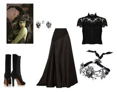 """""""Is anyone ready for helloween?"""" by maybabyfan on Polyvore featuring Lanvin, Alaïa, Alice + Olivia and Bling Jewelry"""