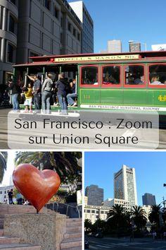 Union Square est LE quartier central et touristique de San Francisco. C'est ici que vous trouverez bars, magasins, théâtres et bien plus ! * * * #SanFrancisco #UnionSquare