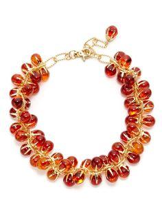 Orange Claw Necklace by Tuleste Market on Gilt