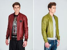 Right or left? Invest in a leather jacket now! Right: left: both on till late February. Luxury Fashion, Mens Fashion, Fashion Online, February, Cool Outfits, Bomber Jacket, Menswear, Leather Jacket, Jackets