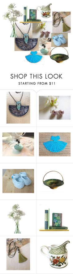 """Turquoise Green"" by inspiredbyten ❤ liked on Polyvore featuring Sabi, John Lewis, Villeroy & Boch and vintage"