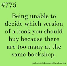 problems of being a book nerd