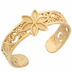 10k Solid Yellow Gold Flower Filigree Toe Ring Jewelry Liquidation. $82.57. Made in USA!. Made with Solid 10k Gold!