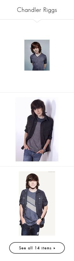 """""""Chandler Riggs"""" by natasha-maree13 ❤ liked on Polyvore featuring chandler riggs"""