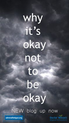 """If the pressure of """"just get over it"""", """"it's no big deal"""", """"there's nothing to be sad about"""" is feeling too heavy, there's a reason for that - there is such a thing as toxic positivity, and it's definitely, certainly, with a doubt okay to not be okay. Check out this week's blog and find some amazing tips on how to avoid toxic positivity - from yourself and from others. Effects Of Stress, Adrenal Fatigue, News Blog, Its Okay, Get Over It, Mental Health, Sad, Positivity, Feelings"""