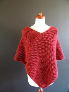 zsazsazsu made this marvellous Winterponcho based on this pattern  by Drops,   knitted with Katia Peru, needle 7   used 5 skeins = 250 grs, MossStitch