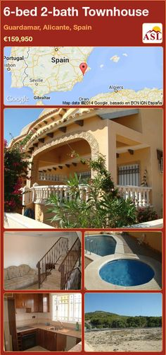 Townhouse for Sale in Guardamar, Alicante, Spain with 6 bedrooms, 2 bathrooms - A Spanish Life Portugal, Permanent Residence, Alicante Spain, Functional Kitchen, Gated Community, Great View, Countryside, Townhouse, Construction