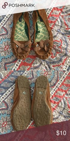 American Eagle moccasins Very comfortable- only worn a couple of times. In great condition! American Eagle Outfitters Shoes Moccasins