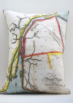 THE DETROIT RIVER - PILLOW. by Salt Labs