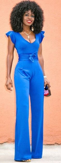 #summer #trendy #outfits |  Short Frill Sleeves Jumpsuit
