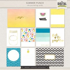Summer Punch Journal Cards by Mari Koegelenberg at The Digital Press