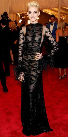 Anne Hathaway in Valentino - The Met Gala 2013 Red Carpet Fashion Photos - Whats Right Now - Fashion - InStyle.com