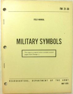 Military Symbols - 1970 - English, Paperback, Professional, Textbook #Textbook