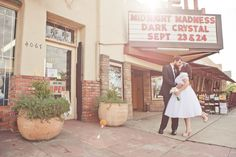 pretty pastel cinema wedding