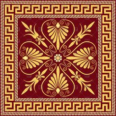 Greek Floral Pattern With Floral Pattern